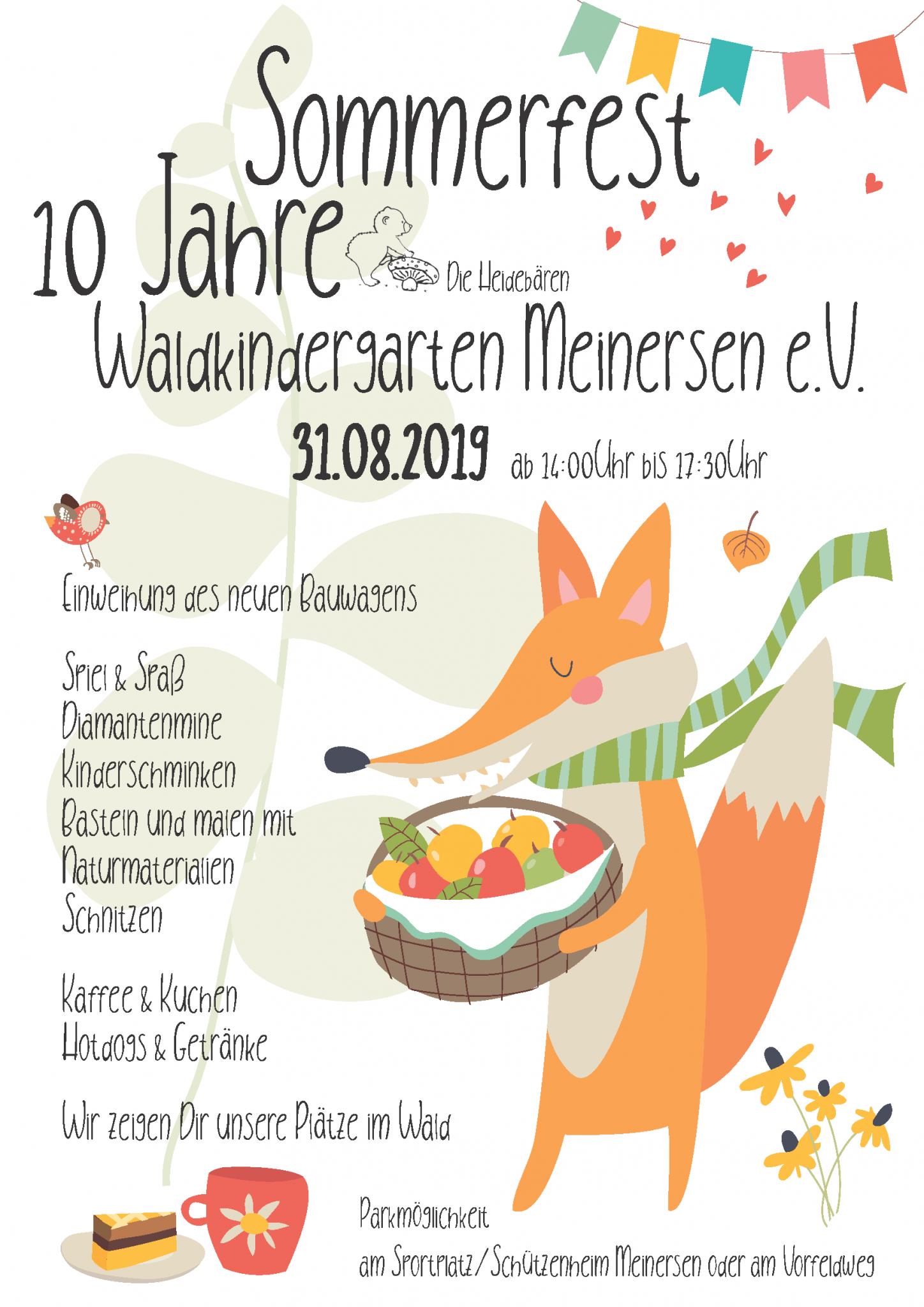 Sommerfest Flyer 2019